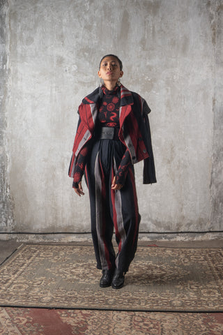 Shop Emerging Slow Fashion Genderless Avant-garde Designer Mark Baigent Spittelberg Collection Black Reclaimed Leather Stay Waist Best at Erebus