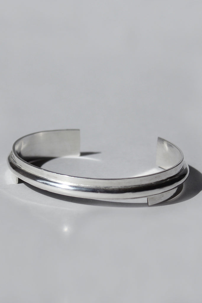 Shop Emerging Brands Draug Jewellery X MLTV Silver M_B1 Cuff at Erebus
