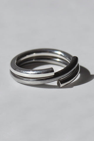 Shop Draug Jewellery X MLTV Silver M_D2 + M_D3 Ring Set at Erebus