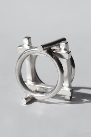 Shop Draug Jewellery X MLTV Silver M_F1 + M_F2 Ring Set at Erebus
