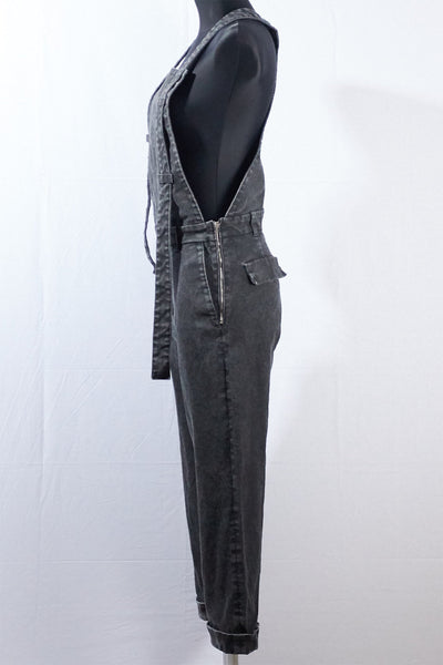 Shop Emerging Dark Luxury Avant-garde Designer Pavlina Jauss Mythology Collection Anthracite Mars Overalls at Erebus