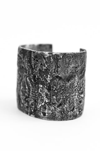 Shop avant-garde brands OSS x Army of Me collaboration Silver Massive Bangle at Erebus
