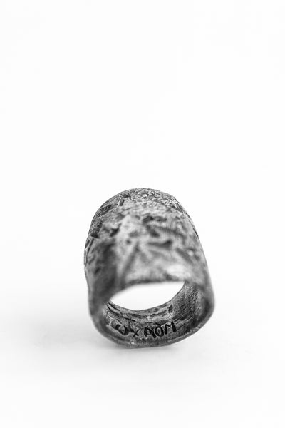 Shop avant-garde brands OSS x Army of Me collaboration Silver Massive Ring at Erebus