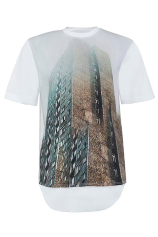 Shop Emerging Unisex Street Brand Monochrome Monument Printed T-shirt at Erebus