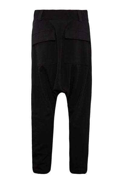 Shop Emerging Unisex Street Brand Monochrome Black Low Pants at Erebus