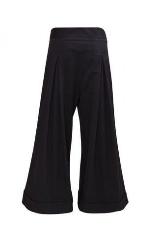 Shop Emerging Unisex Street Brand Monochrome AW18 Black Hakama Trousers at Erebus