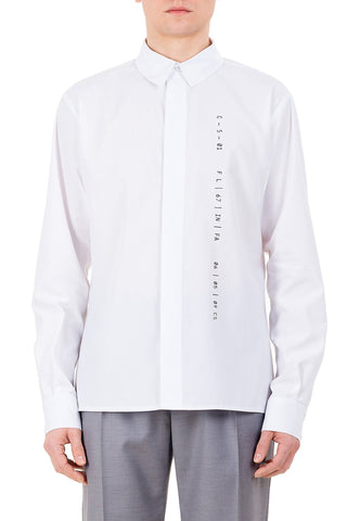 Emerging unisex brand Monochrome Classic Coded Shirt White - Erebus - 1