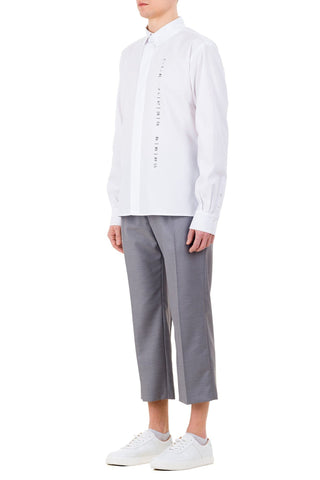 Emerging unisex brand Monochrome Classic Coded Shirt White - Erebus - 5