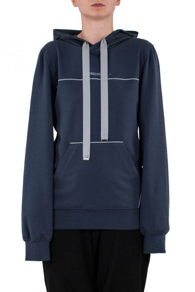 Shop Emerging Unisex Street Brand Monochrome Grey Blue Classic Hoodie Sweatshirt at Erebus