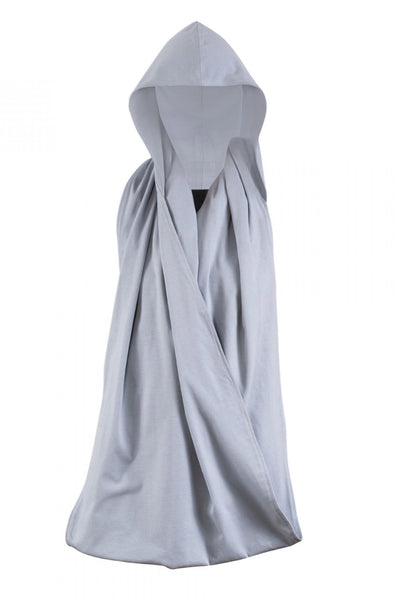 Shop Emerging Unisex Street Brand Monochrome Grey Hooded Scarf at Erebus