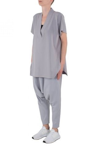 Shop Emerging Unisex Street Brand Monochrome Grey Line Kimono Top at Erebus