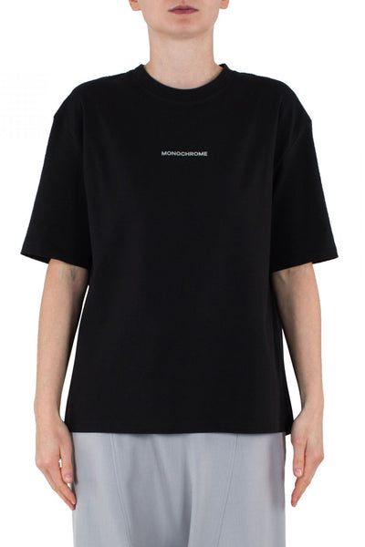 Shop Emerging Unisex Street Brand Monochrome Black Line Tee at Erebus
