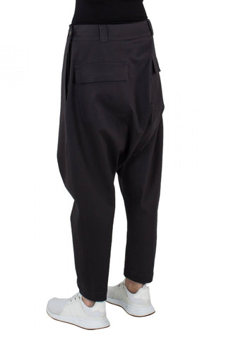 Shop Emerging Unisex Street Brand Monochrome Dark Grey Low Trousers at Erebus