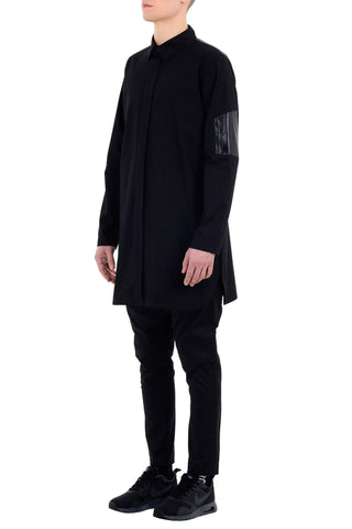 Shop emerging unisex brand Monochrome Paraiba Coded Shirt Black - Erebus - 5