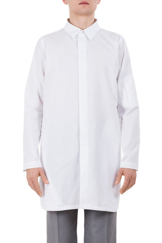 Shop emerging unisex brand Monochrome Paraiba Coded Shirt White - Erebus - 1