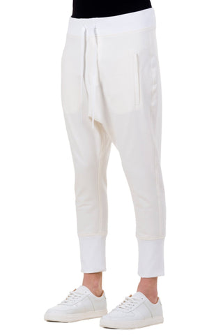 Shop emerging unisex brand Monochrome white Runner Pants - Erebus - 1