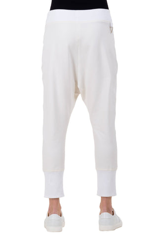 Shop emerging unisex brand Monochrome white Runner Pants - Erebus - 4