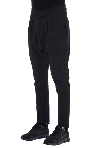 Shop emerging unisex brand Monochrome black Runner Trousers - Erebus - 1