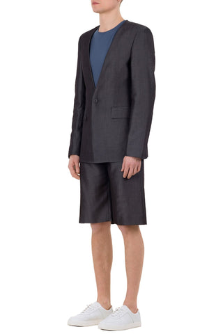 Shop emerging unisex brand Monochrome grey Tencel Coded Blazer - Erebus - 5