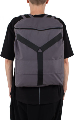 Shop Emerging Unisex Street Brand Monochrome Grey Y Backpack at Erebus