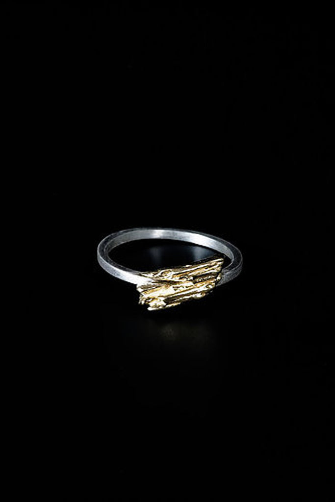Shop Emerging Slow Fashion Avant-garde Jewellery Brand Mosais Gold Alba Ring at Erebus