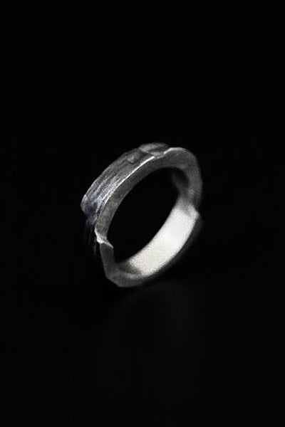 Shop Emerging Slow Fashion Avant-garde Jewellery Brand Mosais Silver Excelsa Ring at Erebus