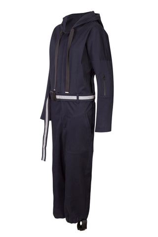Shop Emerging Unisex Street Brand Monochrome Jumpsuit with Reflective Belt at Erebus
