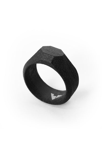 Shop Emerging Men's Jewellery Brand Bazelet Black Odin RAW Ring at Erebus