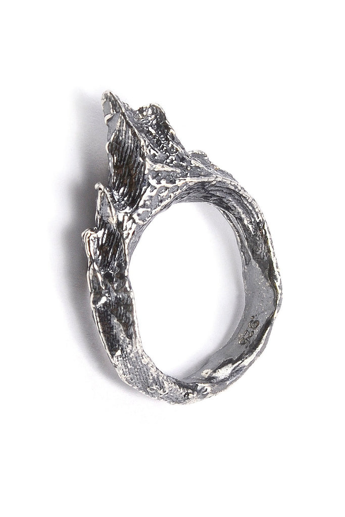 Shop emerging slow fashion jewellery brand Eilisain Ondine Ring in Silver - Erebus - 1