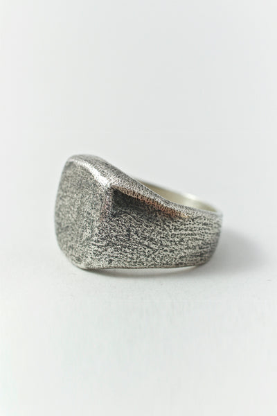Shop Emerging Conscious Avant-garde Brand Black Rock Jewel Oxide Signet Ring at Erebus