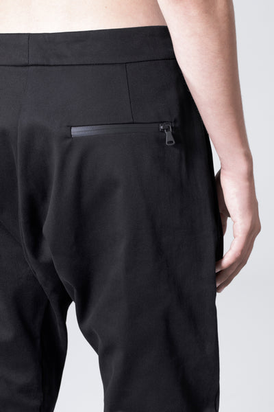 Shop Emerging Slow Fashion Avant-garde Genderless Brand Vague Black Denim Zipper Pants at Erebus