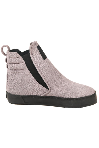 Shop Fair Fashion Genderless Avant-garde Basics Brand PULSE by Mark Baigent Collection Grey Neoprene Rocket Boots at Erebus