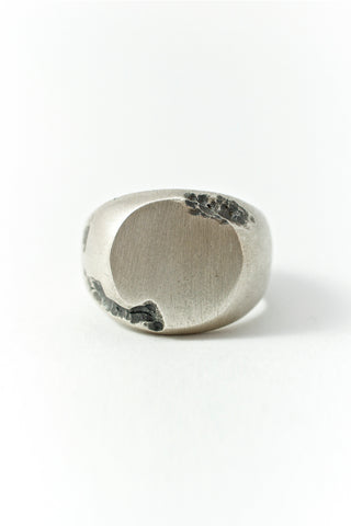 Shop Emerging Conscious Avant-garde Brand Black Rock Jewel Round Signet Ring at Erebus