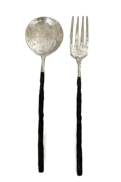 Shop Emerging Slow Fashion Avant-garde Jewellery Brand OSS Haus Silver Cannibal Salad Fork at Erebus