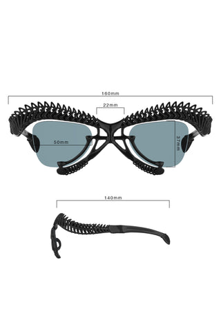 Shop Emerging Slow Fashion Avant-garde Brands Yaron Shmerkin X Vague Collaboration BIO 12 M Sunglasses at Erebus