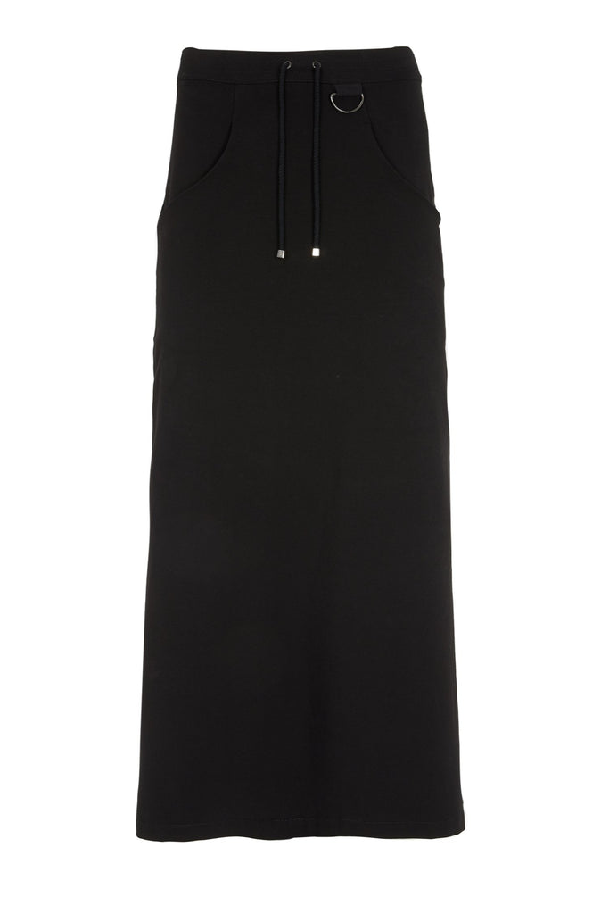 Shop Emerging Slow Fashion Avant-garde Unisex Brand Dhenze Kollektion 5 Black Slash Skirt at Erebus
