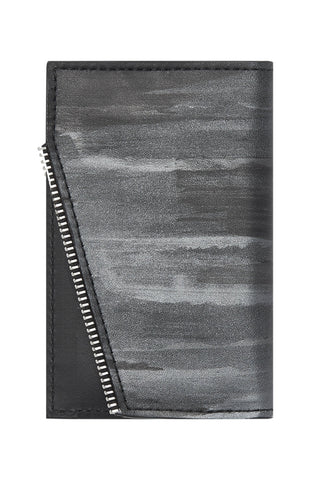 Shop emerging avant-garde accessory brand South Lane Avant Raw Hand-painted Black Leather Wallet - Erebus