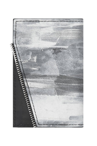 Shop emerging avant-garde accessory brand South Lane Avant Raw Hand-painted White Leather Wallet - Erebus