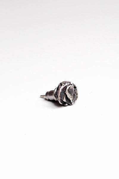 Shop Emerging Slow Fashion Avant-garde Jewellery Brand OSS Haus Silver Stone Earring at Erebus