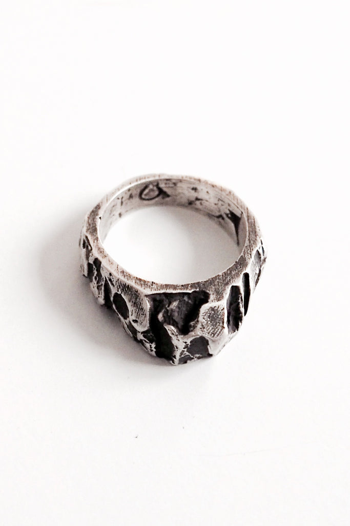 Shop Emerging Slow Fashion Avant-garde Jewellery Brand OSS Haus Silver Stone XS Ring at Erebus