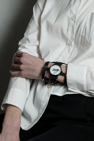 Shop emerging avant-garde accessory brands South Lane X Aumorfia Collaboration Black Gladiator Watch at Erebus