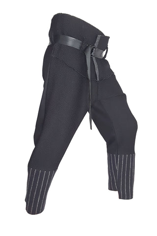 Shop Emerging Conscious Conscious Gender-free Brand Supramorphous Black Wool Sac Trousers at Erebus