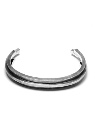 Shop Emerging Avant-garde Slow Fashion Unisex Brand Draug Jewellery Silver Scarpa Cuff at Erebus
