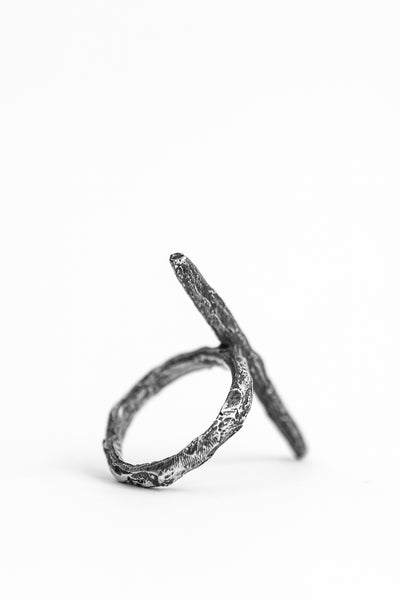 Shop avant-garde brands OSS x Army of Me Collaboration Silver Simple Spike Ring at Erebus