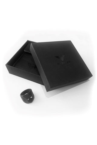 Shop Emerging Men's Jewellery Brand Bazelet Black Skoll RAW Ring at Erebus