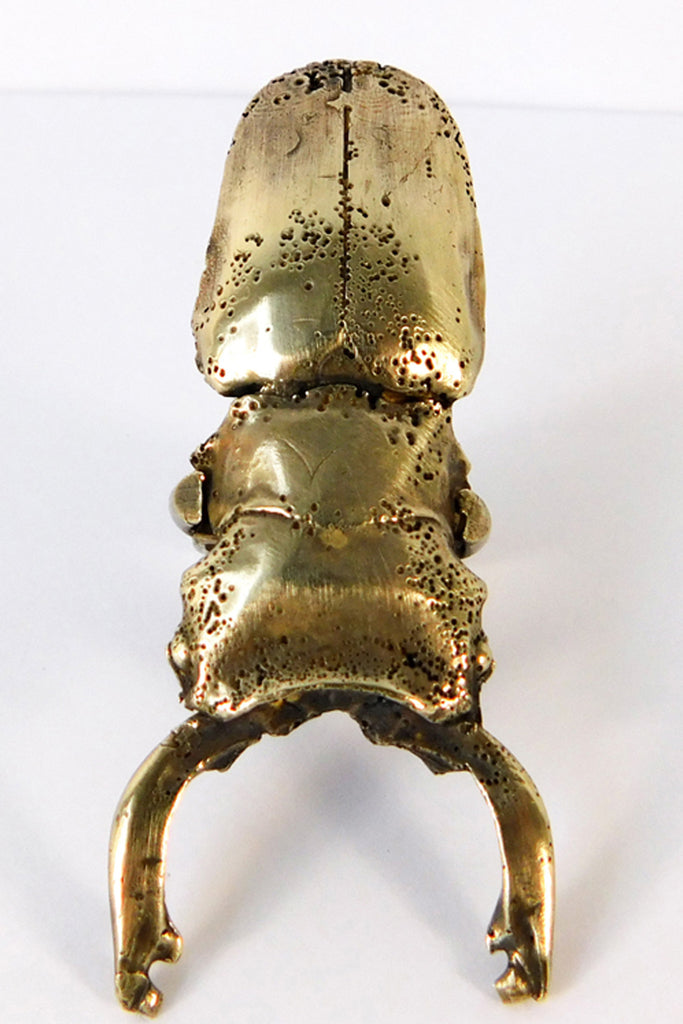 Shop Emerging Slow Fashion Conscious Designer Stacy Hopkins Jewelry Bronze Stag Beetle Ring at Erebus