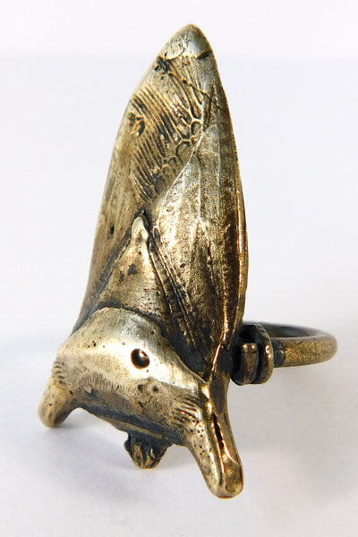 Shop Emerging Slow Fashion Conscious Designer Stacy Hopkins Jewelry Bronze Stink Bug Ring at Erebus