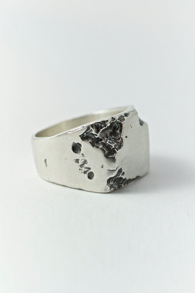 Shop Emerging Conscious Avant-garde Brand Black Rock Jewel Strong Signet Ring at Erebus