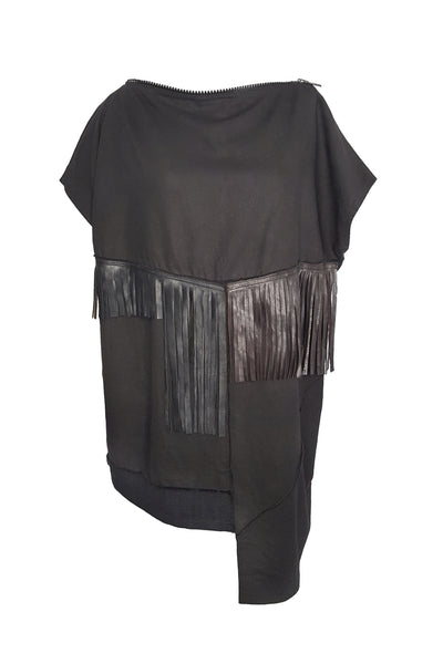 Shop Emerging Conscious Avant-garde Gender-free Brand Supramorphous Black Structure S05 Top at Erebus