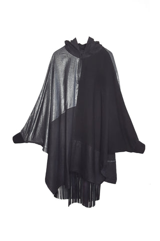 Shop Emerging Conscious Avant-garde Gender-free Brand Supramorphous Black Summer Poncho at Erebus